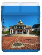 Boston Freedom Trail To State House Boston Ma Duvet Cover