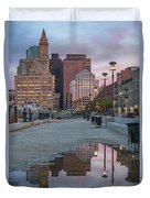 Boston From Long Wharf Duvet Cover