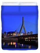 Boston Garden And Zakim Bridge Duvet Cover by Rick Berk