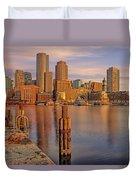 Boston Habor Sunrise Duvet Cover
