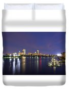 Boston Harbor Skyline Duvet Cover by Joann Vitali
