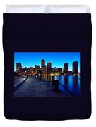 Boston Harbor Walk Duvet Cover
