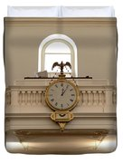 Boston Historical Meeting Room Clock Duvet Cover