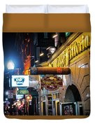 Boston Ma North End Cigar Shop Duvet Cover