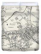 Boston Map, 1722 Duvet Cover