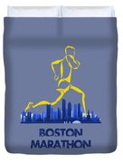 Boston Marathon5 Duvet Cover