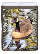Boston Public Garden Goose Duvet Cover