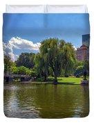 Boston Public Garden Duvet Cover