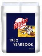 Boston Red Sox 1952 Yearbook Duvet Cover