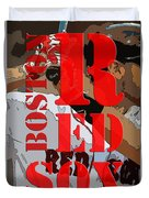 Boston Red Sox Original Typography  Duvet Cover