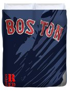 Boston Red Sox Typography Blue Duvet Cover