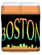 Boston Skyline 10 Duvet Cover
