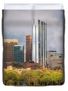 Boston Skyline Skyscraper Boston Ma Charles River Duvet Cover