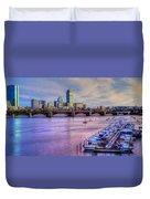 Boston Skyline Sunset Duvet Cover by Joann Vitali