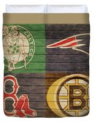Boston Sports Teams Barn Door Duvet Cover