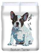 Boston Terrier Pop Art Duvet Cover