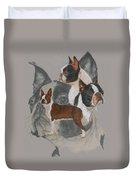 Boston Terrier Revamp Duvet Cover