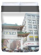 Boston's Chinatown  Duvet Cover