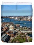 Boston's North End Duvet Cover