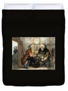 Boswell And Johnson, 1786 Duvet Cover