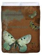 Botanica Vintage Butterflies N Moths Collage 4 Duvet Cover