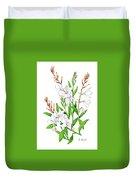 Botanical Illustration Floral Painting Duvet Cover
