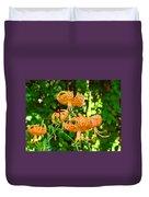 Botanical Master Gardens Art Prints Orange Tiger Lilies Baslee Troutman Duvet Cover