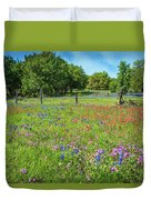 Botanical Variety Show In The Texas Hill Country Duvet Cover