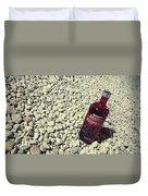 Bottle And The Beach  Duvet Cover