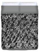 Bottle Wall Black And White Duvet Cover