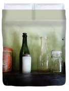 Bottles And A Coffee Can Duvet Cover