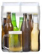 Bottles Of Beer And Beer Mug.  Duvet Cover