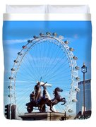Boudica Riding The Millennium Wheel Duvet Cover