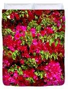 Bougainvillea And Foliage Duvet Cover