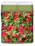 Bougainvillea Repeating Pattern Abstract I Duvet Cover