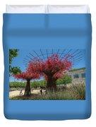 Bougainvilleas Tree Scultures Duvet Cover