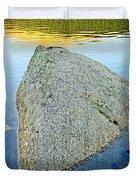 Boulder At Echo Lake Duvet Cover