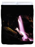 Boulder Cave Falls From The Side  Duvet Cover