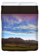 Boulder Colorado Dreaming Duvet Cover