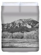 Boulder Colorado Flatiron View From Jay Rd Bw Duvet Cover