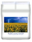 Boulder  County Colorado Duvet Cover