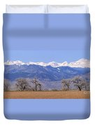 Boulder County Colorado Panorama Duvet Cover