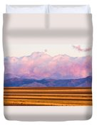 Boulder County Farm Fields At First Light Sunrise Duvet Cover