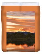 Boulder County Lake Sunset Vertical Image 06.26.2010 Duvet Cover
