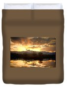 Boulder County Sunset Reflection Duvet Cover
