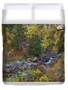 Boulder Creek Autumn View  Duvet Cover