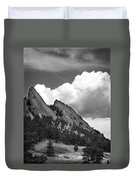 Boulder Flatirons 2 Duvet Cover