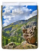 Boulder In Ouray Canyon Duvet Cover