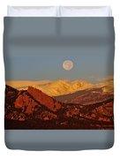 Boulder Moonrise Duvet Cover