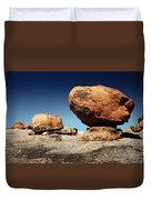 Boulder On Solid Rock Duvet Cover